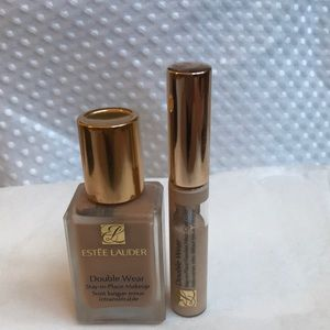ESTEE LAUDER DOUBLE WEAR FOUNDATION AND CONCEALER